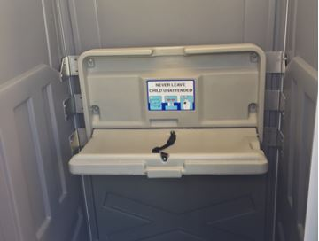 outdoor diaper changing room rental